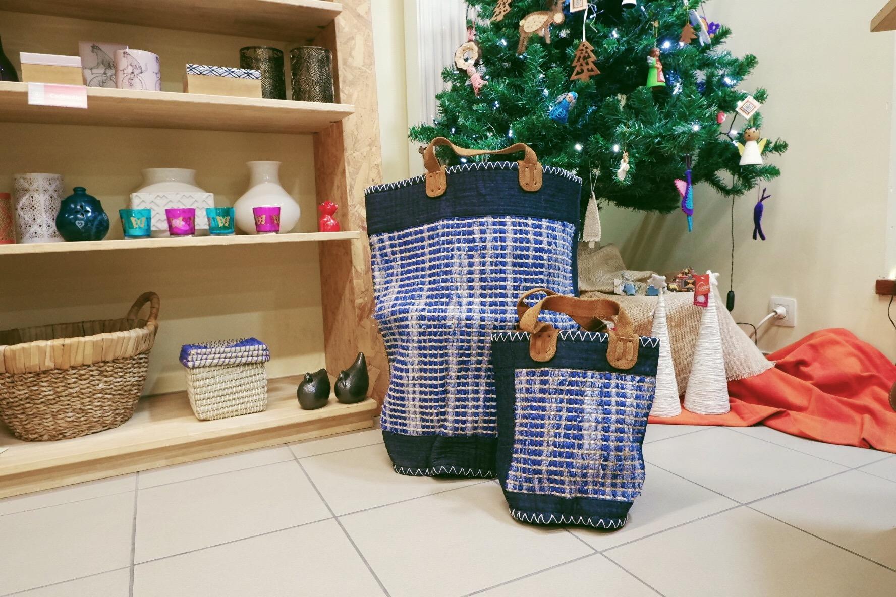 Op eerlijke cadeauzoektocht bij Oxfam Wereldwinkel in Hasselt - manden